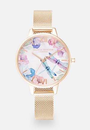 PAINTERLY PRINTS - Montre - rosegold-coloured/white