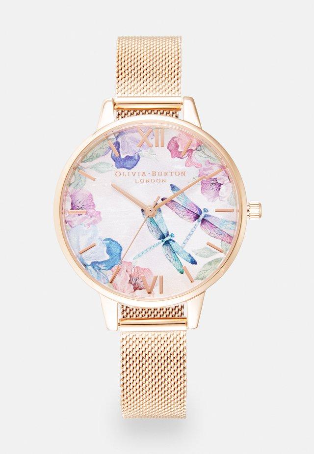 PAINTERLY PRINTS - Horloge - rosegold-coloured/white
