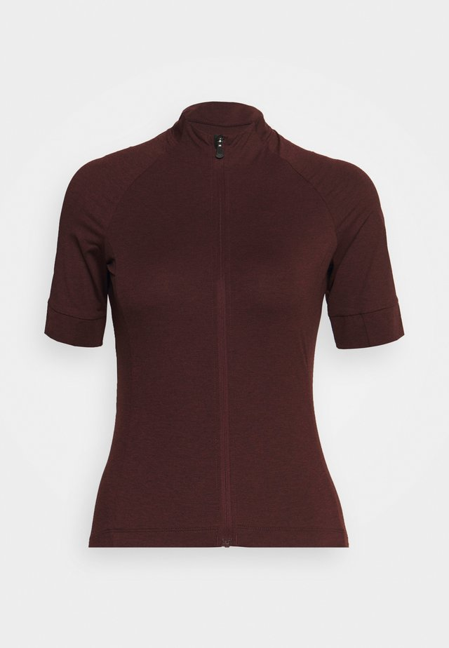 NEW ROAD - T-shirt print - ox blood heather