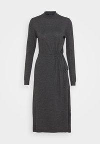VMSHARM HIGHNECK DRESS VIP - Jumper dress - dark grey melange