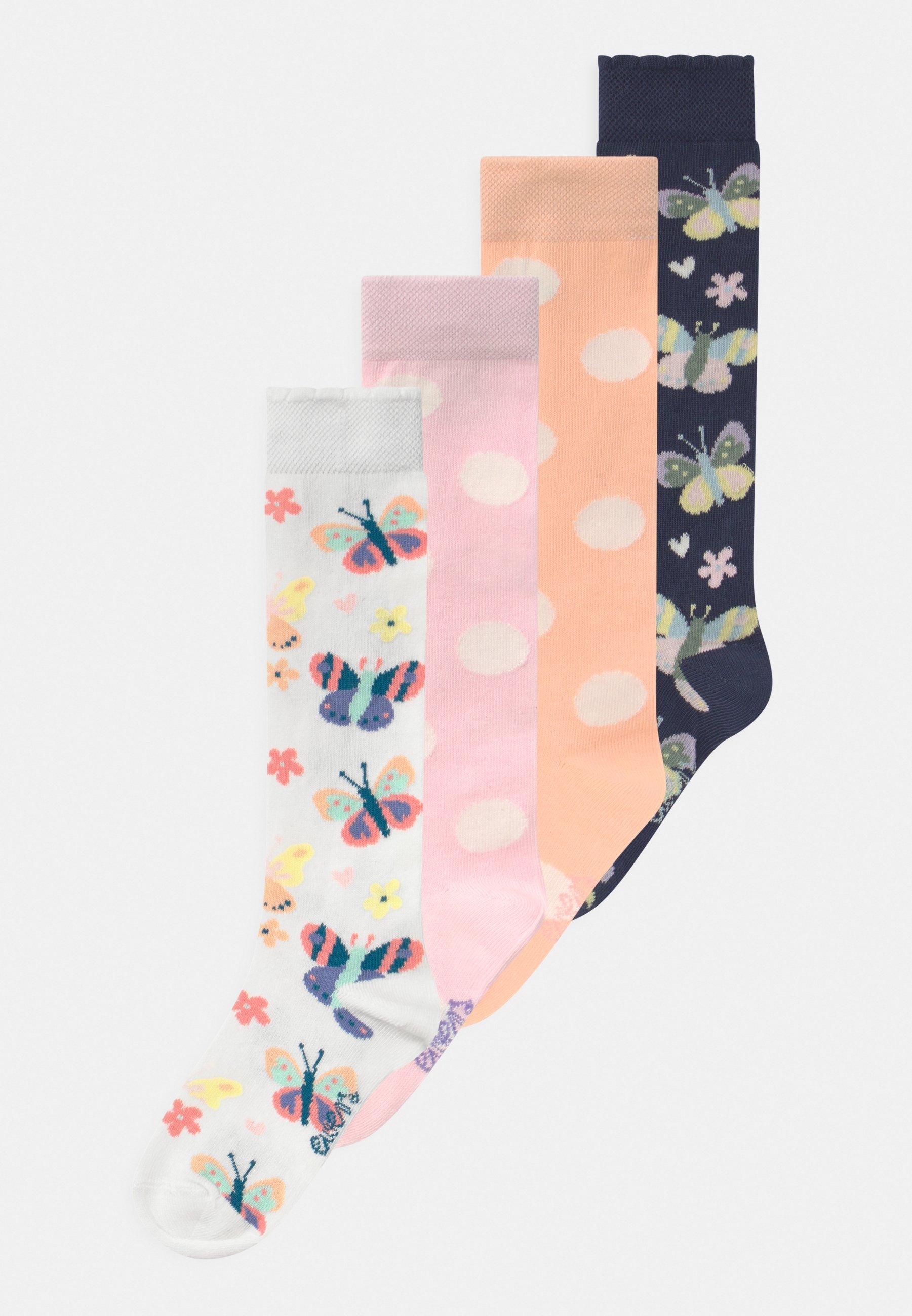 Kids BUTTERFLIES DOTS 4 PACK - Knee high socks
