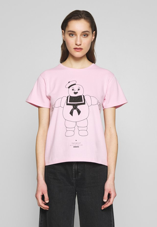 NEW YORK TEE - Triko s potiskem - light pink