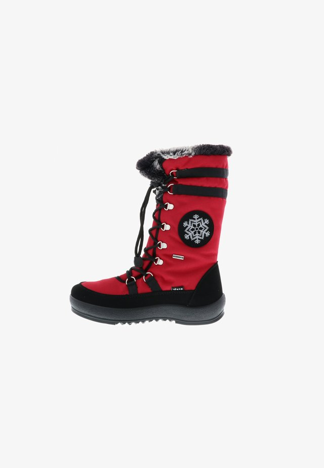 Lace-up boots - rot