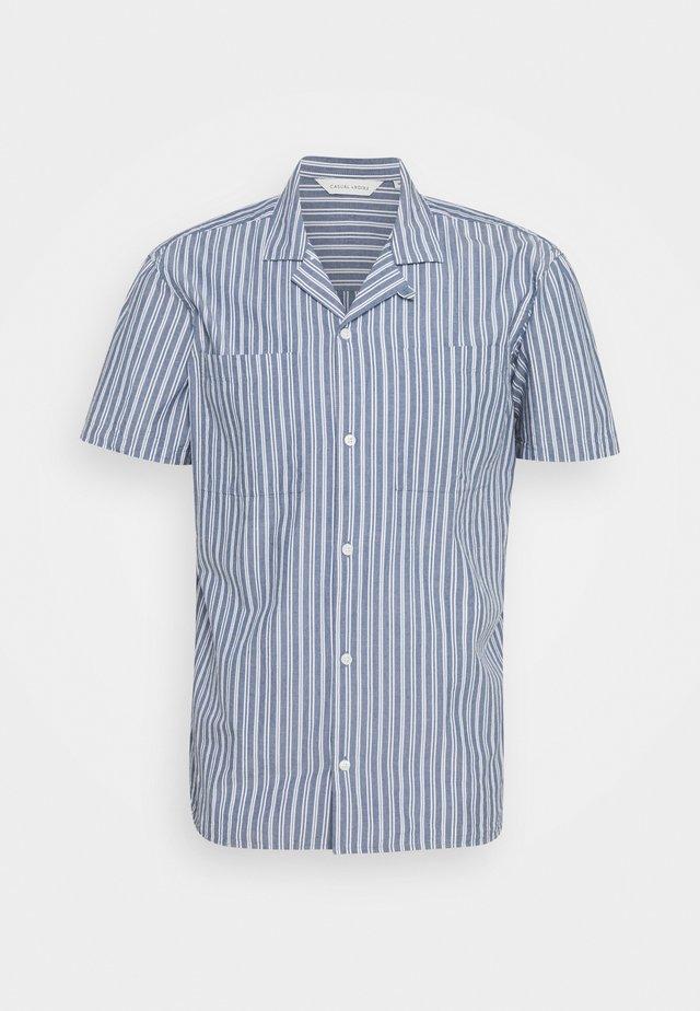 ALVIN STRIPED SHIRT - Overhemd - true navy