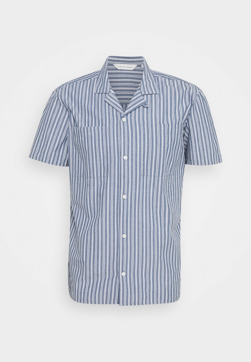 Casual Friday - ALVIN STRIPED SHIRT - Shirt - true navy