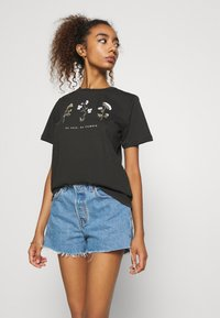 Even&Odd - Camiseta estampada - anthracite - 3
