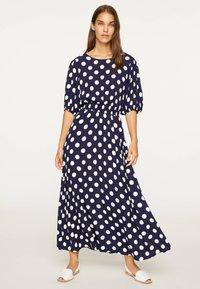 OYSHO - GETUPFTES KLEID 31962115 - Day dress - dark blue - 0