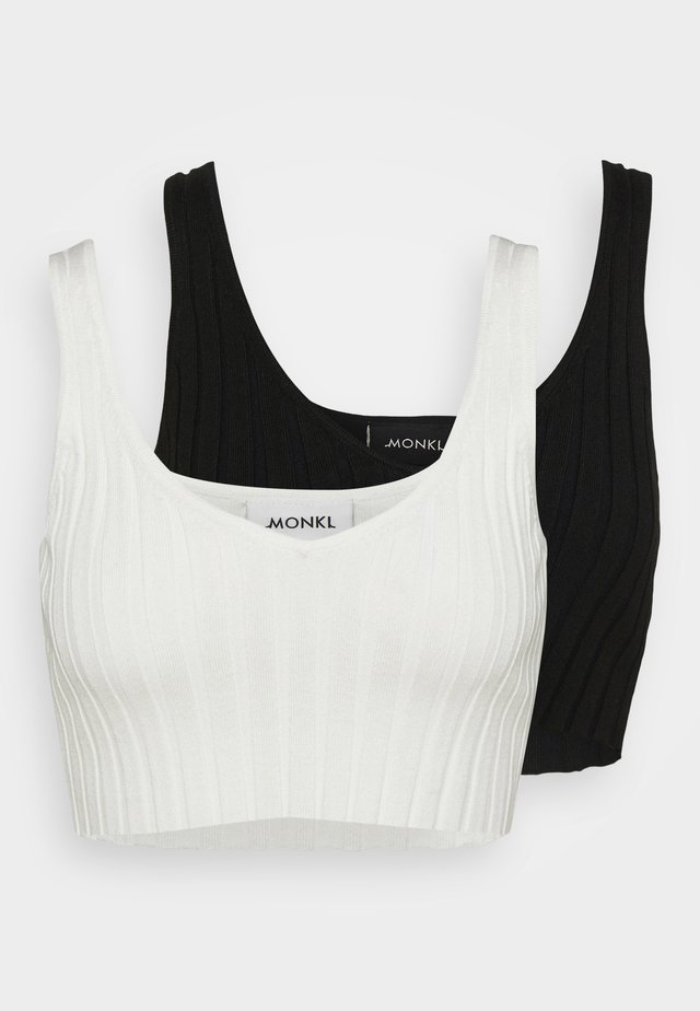 MIMS 2 PACK - Top - white/black