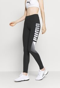 Puma - GRAPHIC LEGGINGS - Collant - dark gray heather - 0