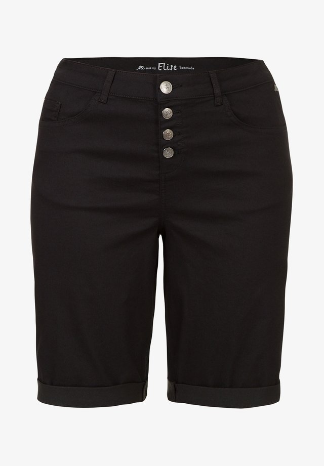 ETAM PLUS BERMUDA BUTTON FLY - Shorts - black