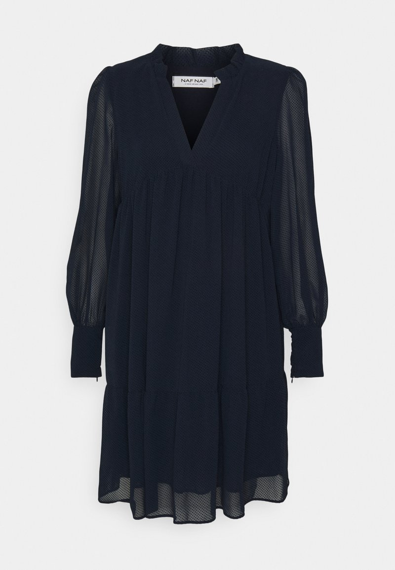 NAF NAF - LAPASTILLA - Robe d'été - bleu marine