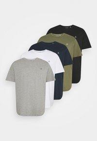 Jack & Jones - JORJXJ TEE CREW NECK 5 PACK - Basic T-shirt - white - 8