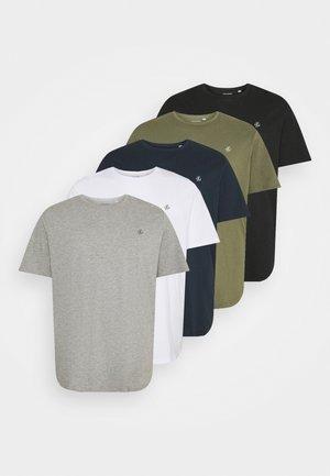 JORJXJ TEE CREW NECK 5 PACK - Basic T-shirt - white