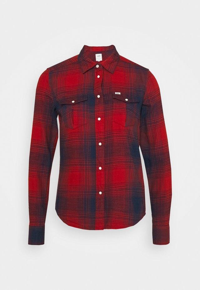 REGULAR WESTERN SHIRT - Camicia - red ochre