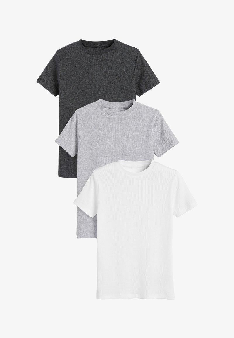 Next - 3 PACK  - T-shirt z nadrukiem - grey