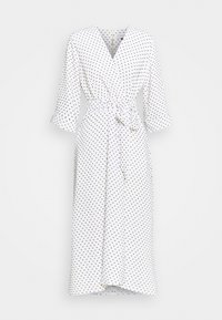 Closet - CLOSET HIGH LOW WRAP DRESS - Day dress - white - 5
