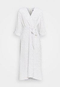 CLOSET HIGH LOW WRAP DRESS - Day dress - white