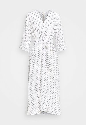 CLOSET HIGH LOW WRAP DRESS - Vestito estivo - white