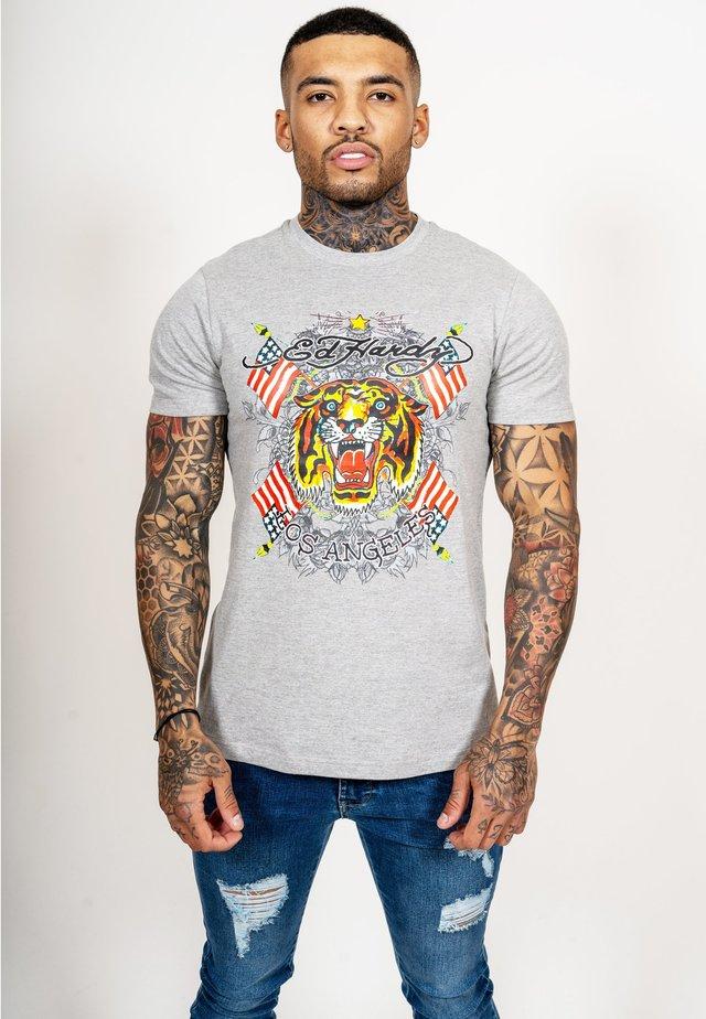 TIGER LOS T-SHIRT - T-shirt print - grey