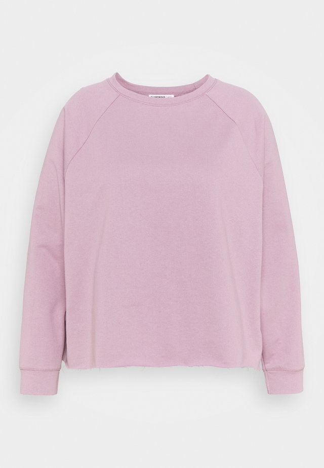 RAGLAN CROP WITH LONG SLEEVES - Sweatshirt - lilac