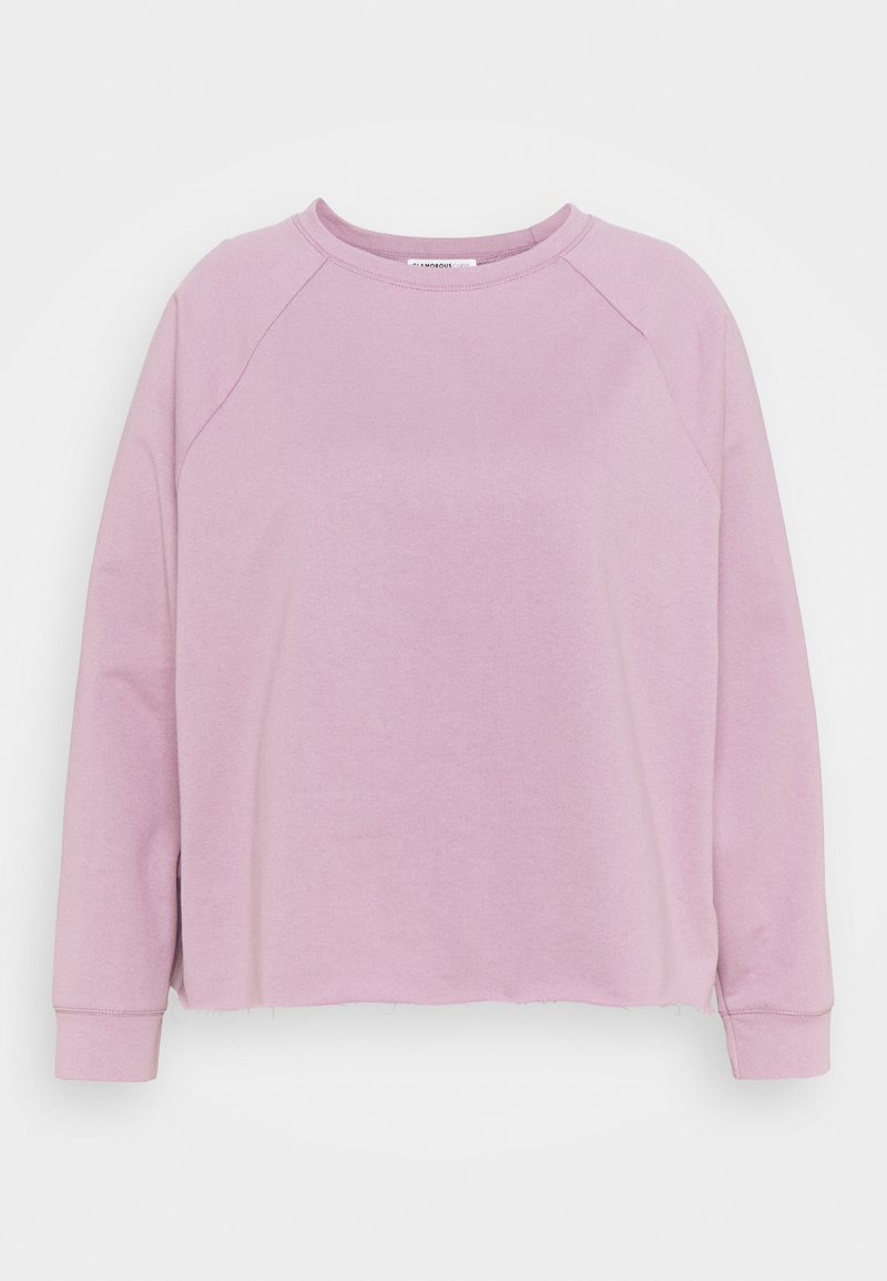 Glamorous Curve - RAGLAN CROP WITH LONG SLEEVES - Sweatshirt - lilac