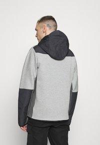 Nike Sportswear - HOODE MIX - Tröja med dragkedja - dark grey heather/iron grey/black - 2