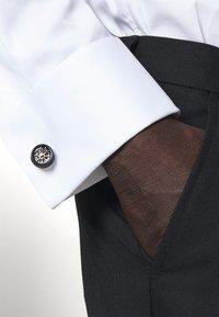 Paul Smith - MEN CUFFLINK WHEEL - Cufflinks - silver-coloured/black - 0