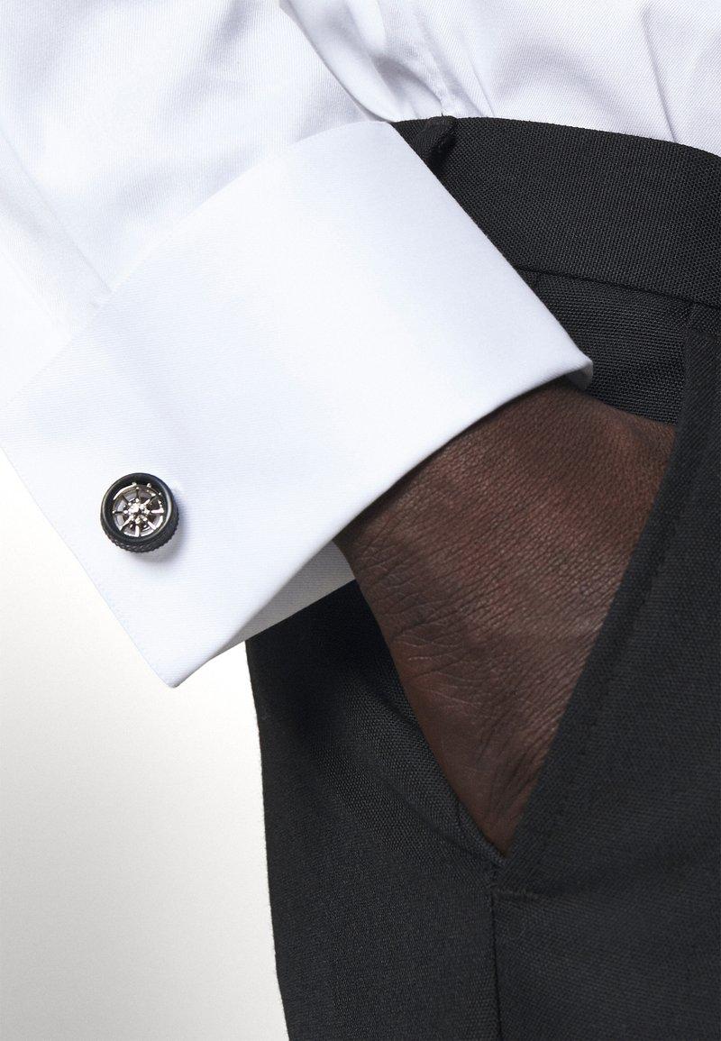 Paul Smith - MEN CUFFLINK WHEEL - Cufflinks - silver-coloured/black