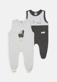 Jacky Baby - STRAMPLER HOLA LAMA 2 PACK - Jumpsuit - anthrazit/hellgrau - 0