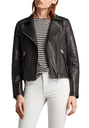 DALBY - Leather jacket - black