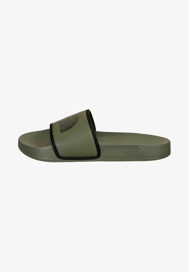 Badslippers - new taupe green black
