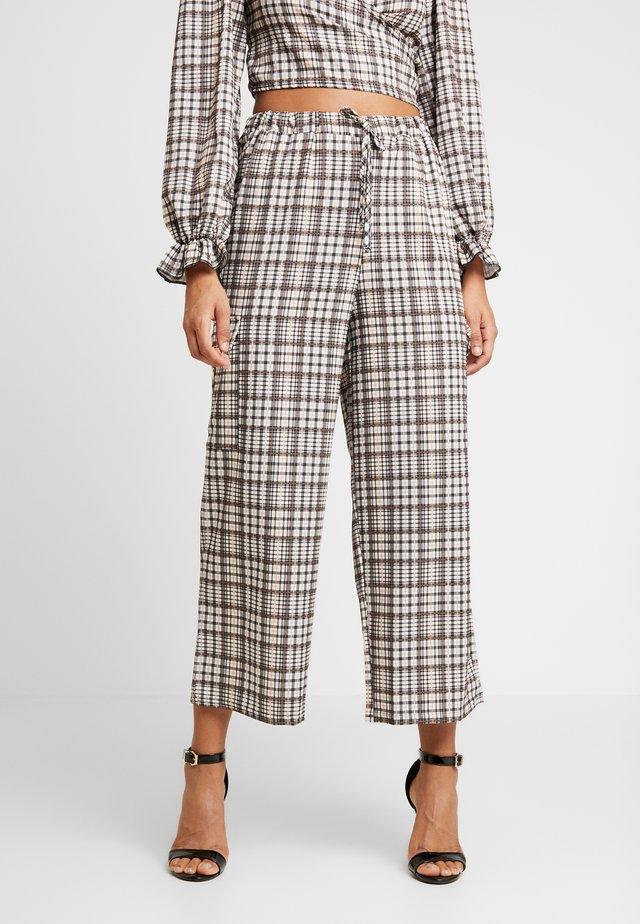 CHECK PRINT TROUSERS - Spodnie materiałowe - multi