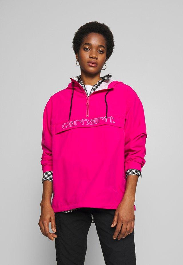 SCRIPT - Veste coupe-vent - ruby pink/white