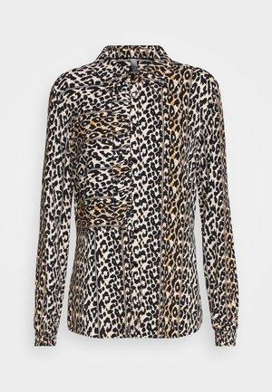 ELITHA - Button-down blouse - black