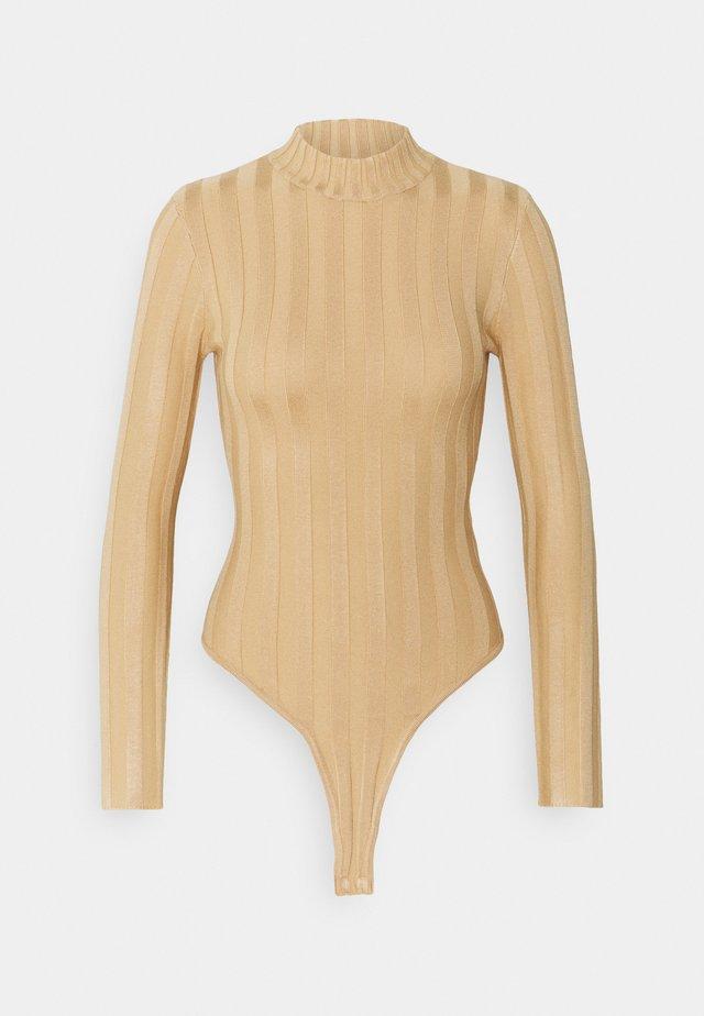 EXTREME HIGH NECK BODY - Body - camel
