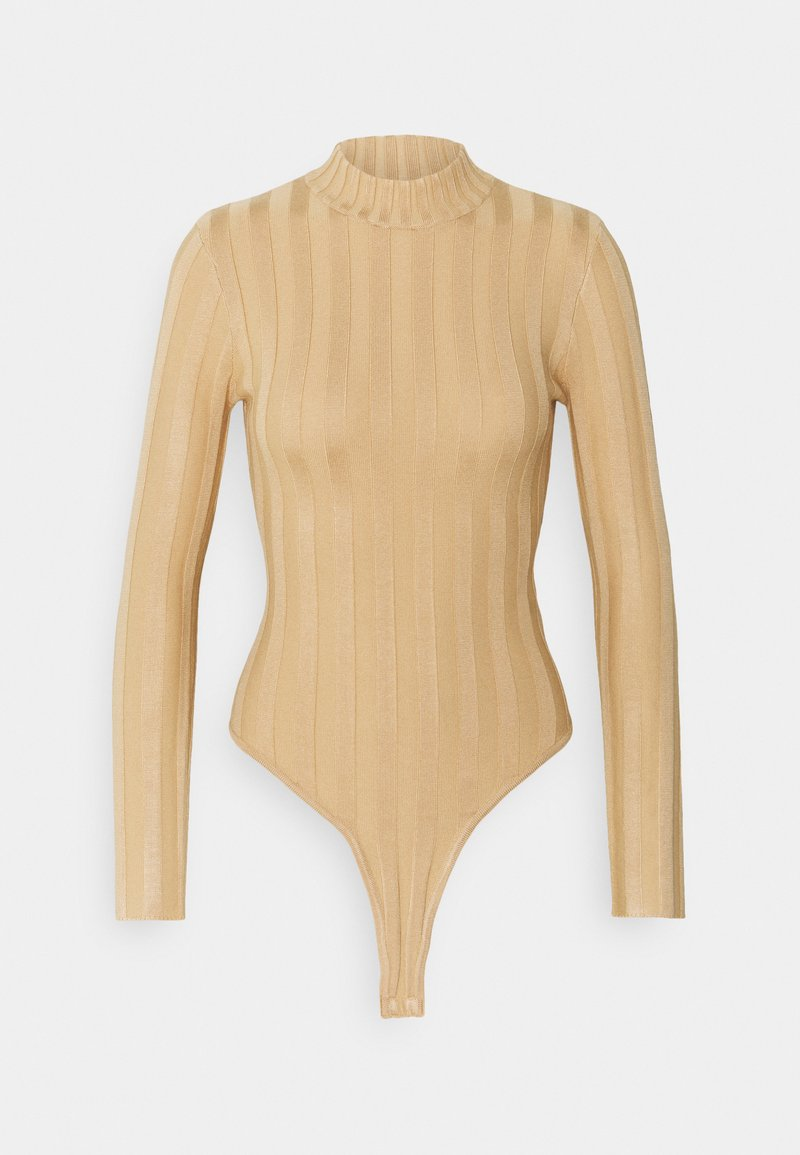 Missguided Petite - EXTREME HIGH NECK BODY - Body - camel