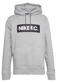 FC HOODIE - Bluza z kapturem - dark grey/white/black
