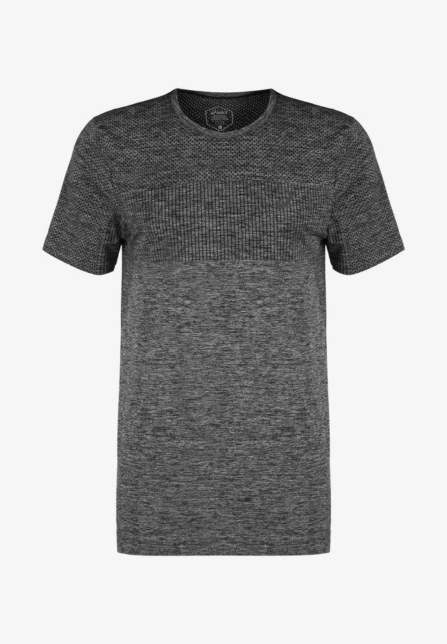 RACE SEAMLESS - T-shirt z nadrukiem - performance black