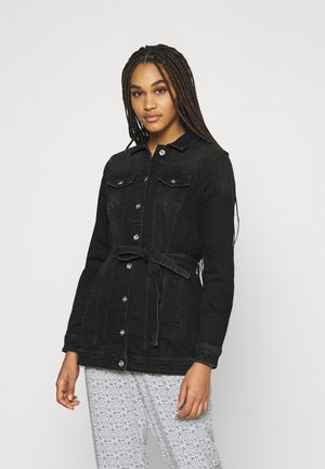 ONLTIA LIFE LONG BELT  - Denim jacket - black denim