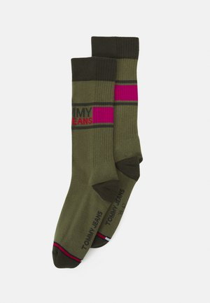 SOCK 2 PACK UNISEX  - Ponožky - dark purple/olive