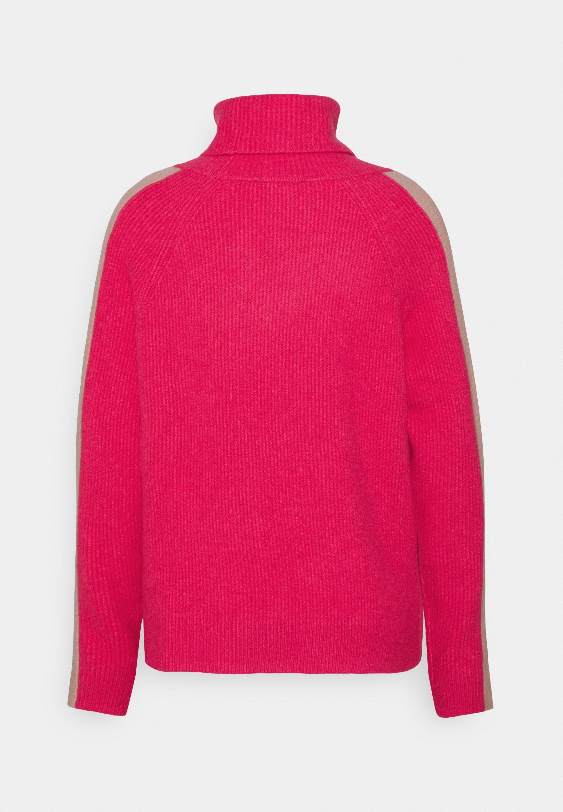 Women ROLLNECK - Jumper - pink fuchsia