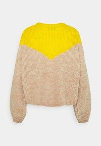 ONLY - ONLSOOKIE BLOCK - Jumper - beige/yellow - 1