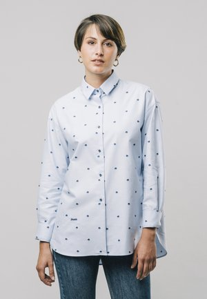 YOKO PRINTED - Button-down blouse - blue