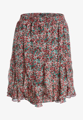 A-line skirt - white red