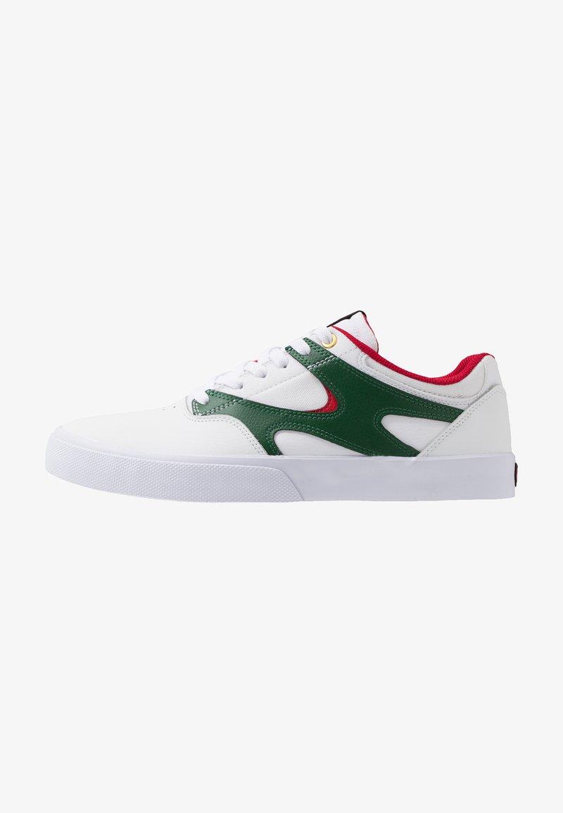 DC Shoes - KALIS VULC - Skate shoes - white/red