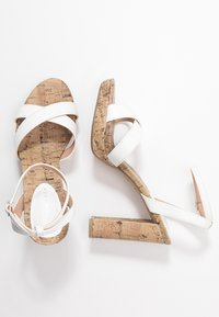 New Look - PORKS - High heeled sandals - white - 3
