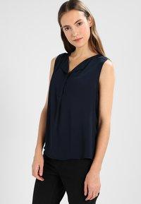 Vila - VILUCY TOP  - Button-down blouse - total eclipse - 0