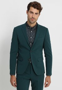 Lindbergh - PLAIN MENS SUIT - Kostuum - dark green - 2