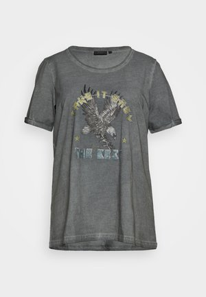 MBRITT - Print T-shirt - grey washed