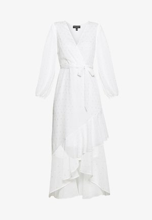 CLIPPED FRILL MIDAXI DRESS - Maxi šaty - ivory